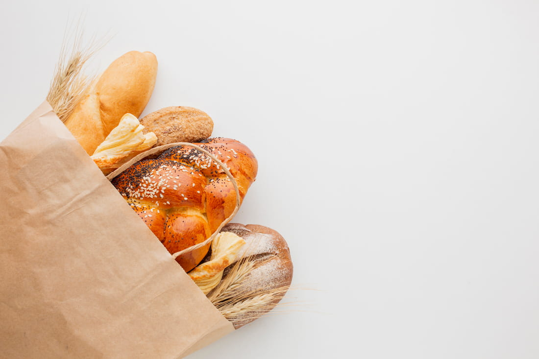bolsa con diferentes panes